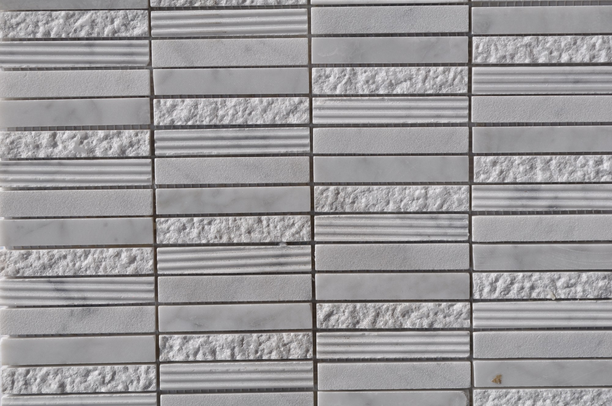 Cararra White Stacked Stone