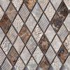 Dark Emperador Harlequin Pattern Mixed Surface Mosaics