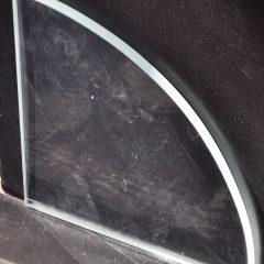 Clear Polished Glass Shower Shelf