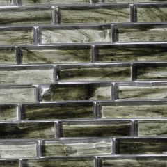 Fusion Glass Jade Green Linear Strips 03S 1