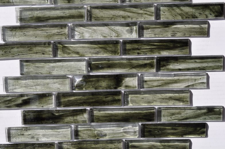 Fusion Glass Jade Green Linear Strips 03S