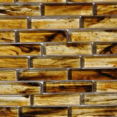 Fusion Glass Autumn Brown Linear Strips 07S 1