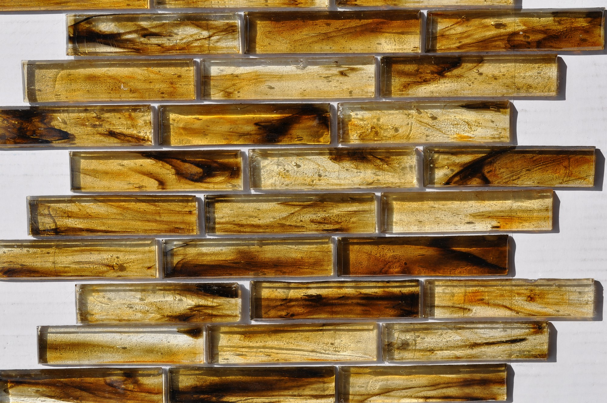Fusion Glass Autumn Brown Linear Strips 07S