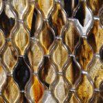 Fusion Glass Autumn Brown Teardrop Pattern 07G