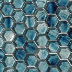 Fusion Glass Sky Blue Hex Pattern 09F 1