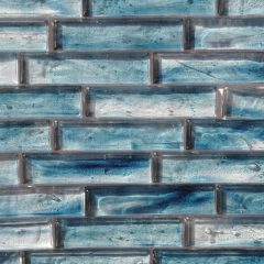 Fusion Glass Sky Blue Linear Strips 09S 1