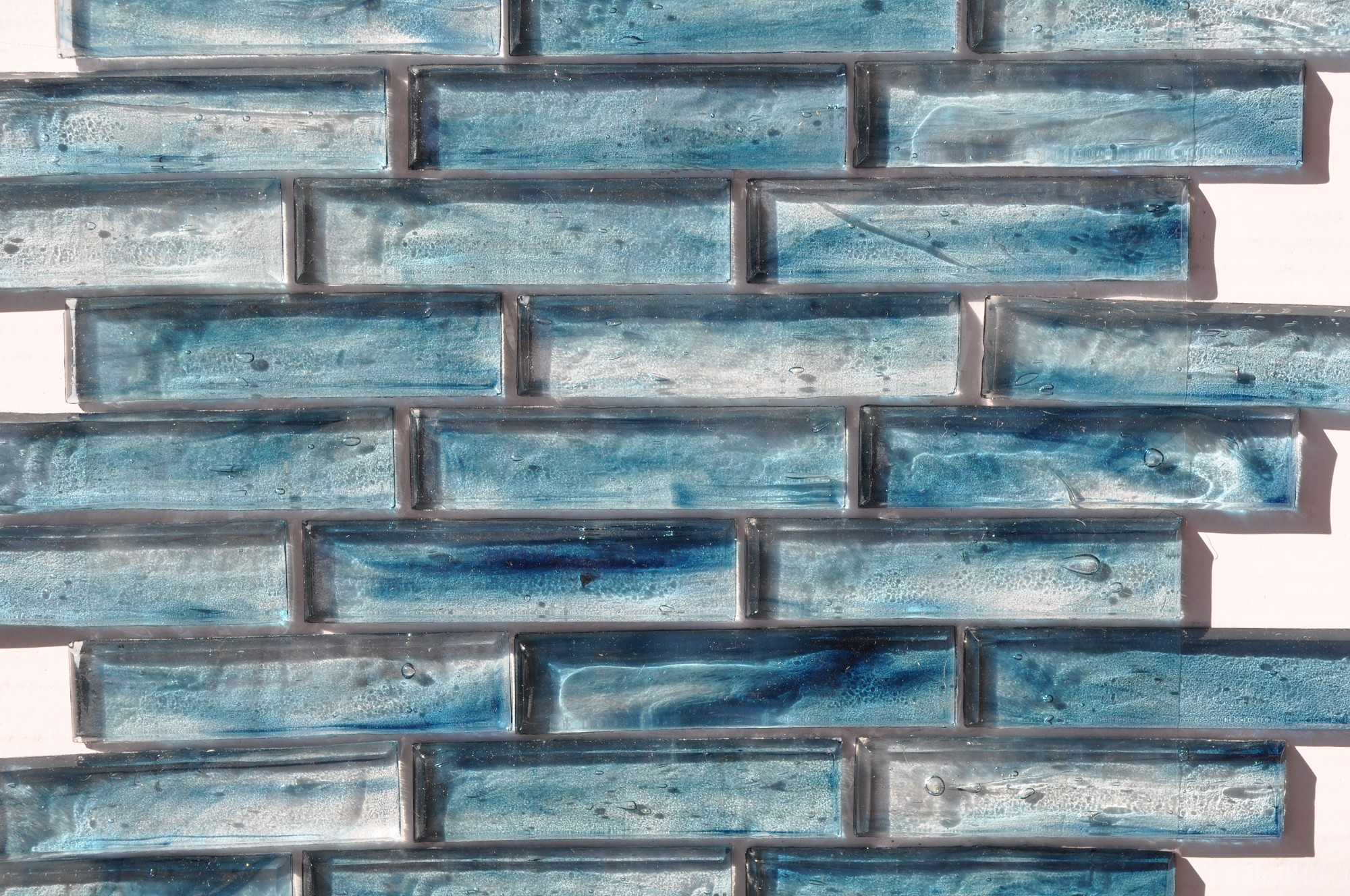 Fusion Glass Sky Blue Linear Strips 09S | Glass Tile Home