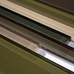 Fountainebleau Crystal Glass Random Interlock In  Beige Brown Sage Greenpolish Glass Tile