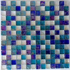 Reflections Blend Aqua Blues And  White 1X1