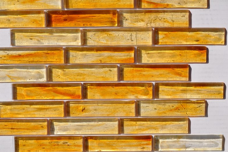 Fusion Glass Honey Gold Linear Strips 04S