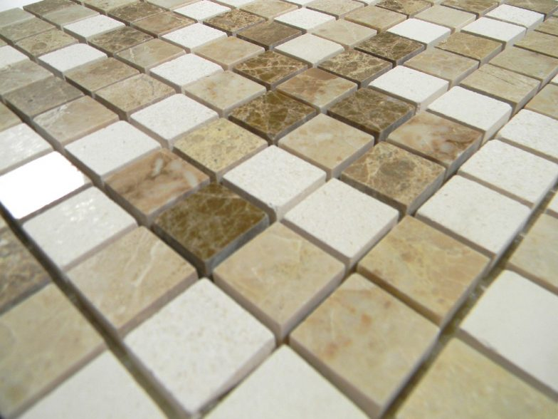Chateau Blend Polish Mixed Mosaics Polo Brown