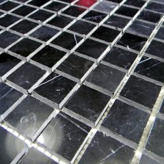 Nero Marquina Marble Polish 1X1 X 6Mm Mosaic Tile 1
