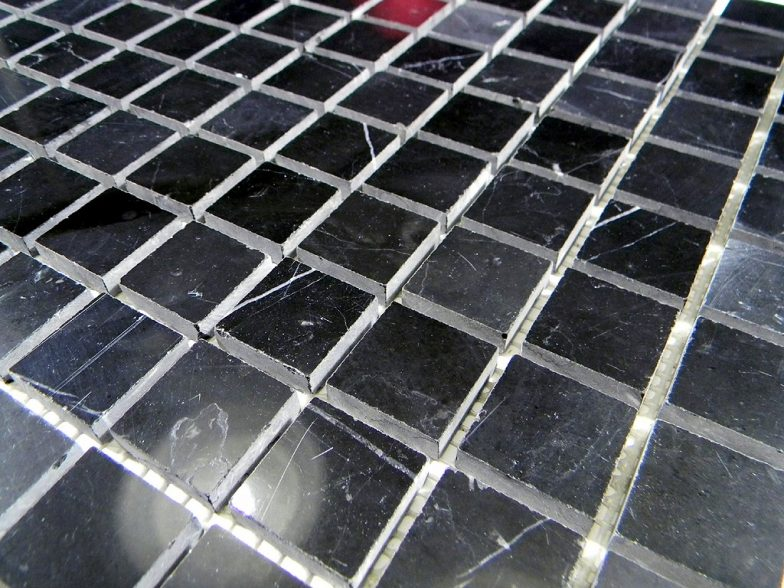 Nero Marquina Marble Polish 1X1 X 6Mm Mosaic Tile