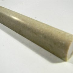 Crema Marfil 3/4 X 12 Polish Pencil Rail 1