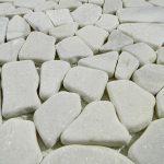 White  Flat Stone Tile Pebbles Outdoor Landscape