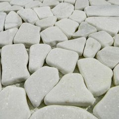 White  Flat Stone Tile Pebbles Outdoor Landscape 1