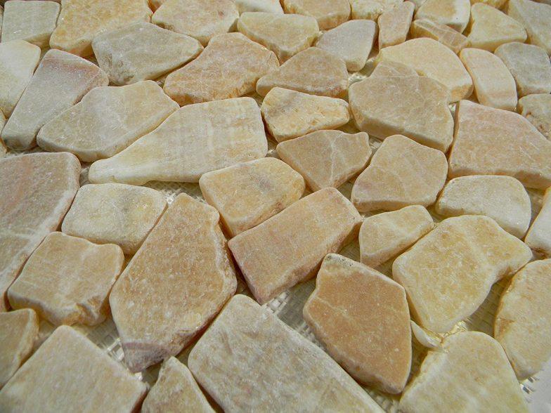 Honey Onyx Flat Stone Tile Pebbles Outdoor Landscape