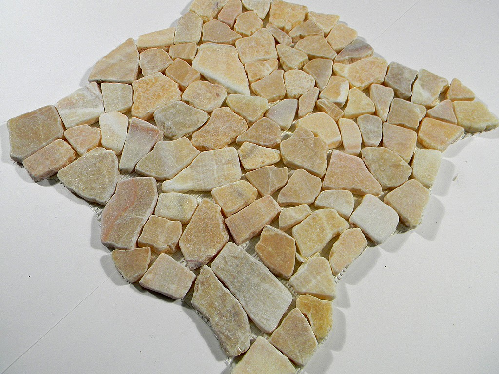 Honey Onyx Stone : Honey onyx flat stone tile pebbles outdoor landscape