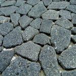 Flat Charcoal Stone Outdoor Landscape Pebble