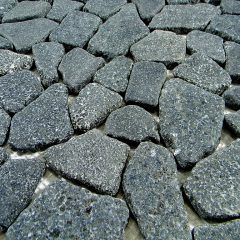 Flat Charcoal Stone Outdoor Landscape Pebble 1