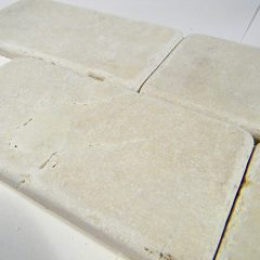Crema Marfil Tumbled 3X6 Marble Tile Brick Pattern 1