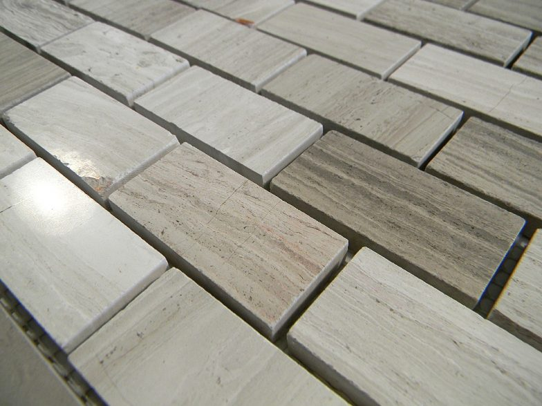 Wood Vein Marble Polish 1X2 Brick