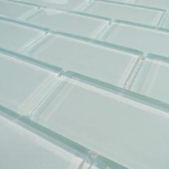 Arctic Ice 2 X 4 Crystal Glass Tile Brick Pattern