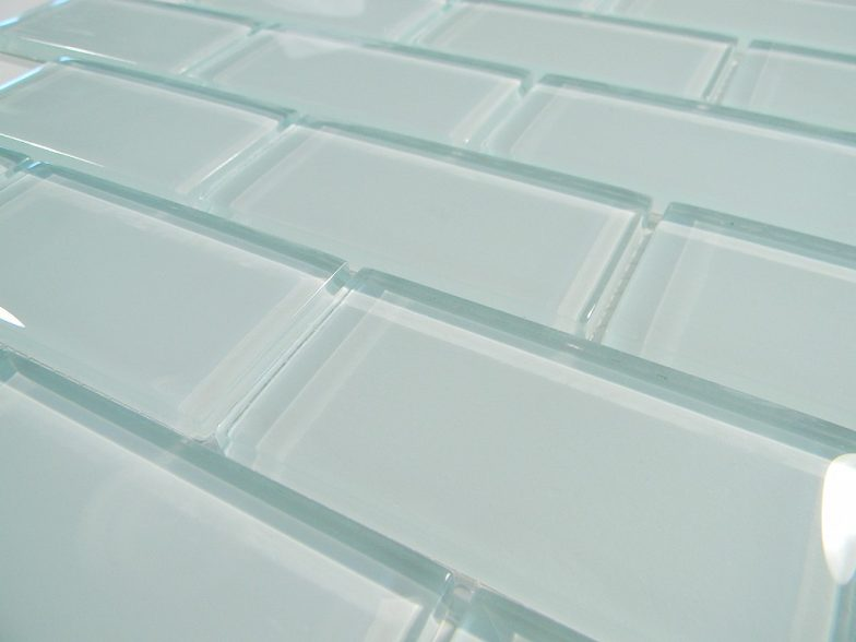 Arctic Ice 2 X 4 Crystal Glass Tile Brick Pattern