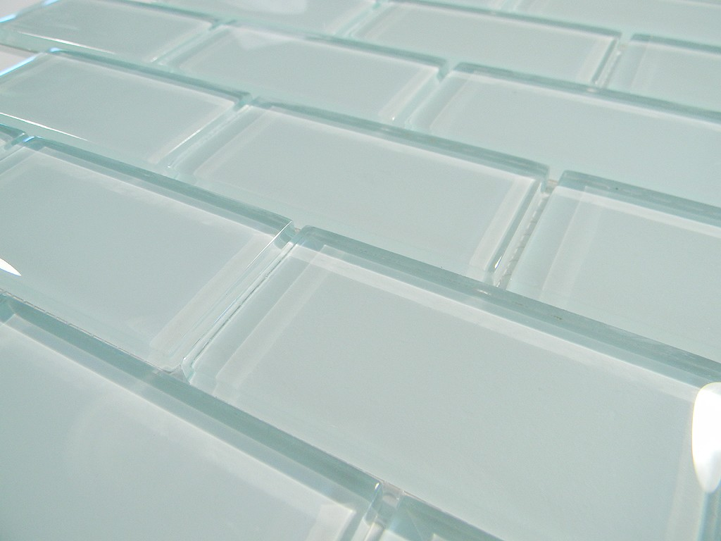 Arctic Ice 2 X 4 Crystal Glass Tile Brick Pattern Glass
