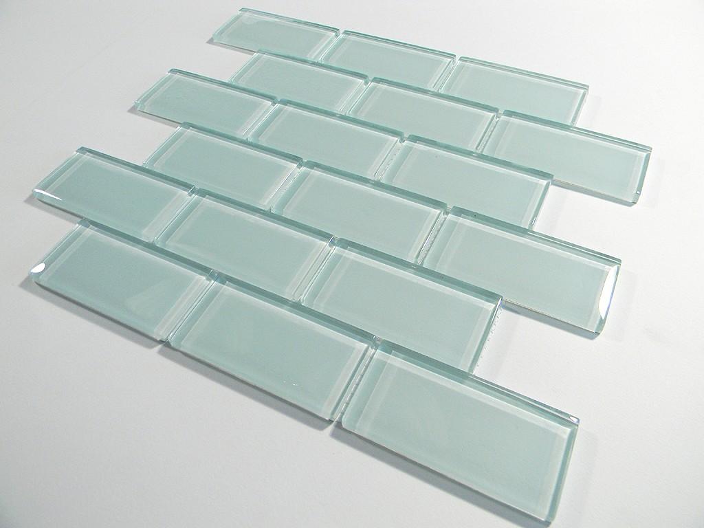 Arctic Ice 2 X 4 Crystal Glass Tile Brick Pattern Glass