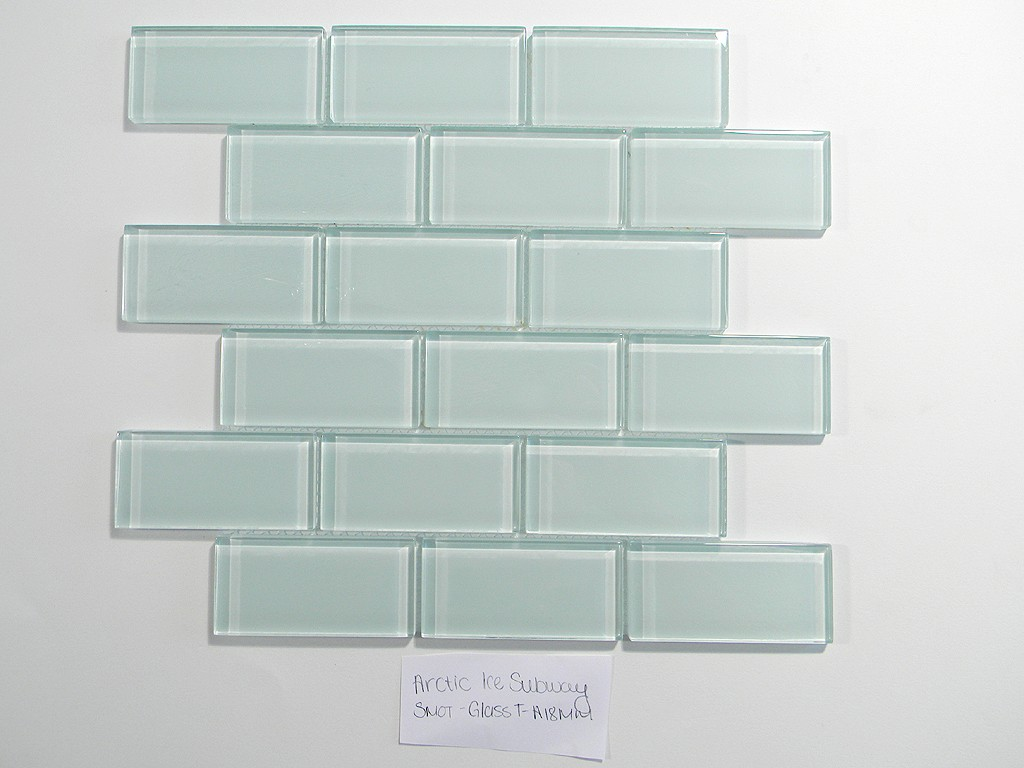 Arctic Ice 2 X 4 Crystal Glass Tile Brick Pattern | Glass Tile Home