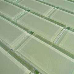 Mint Green Crystal Glass Tile 2X4 Subway 1