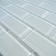 Crystal Glass Tile 1X2 Arctic Ice Polish Brick 1