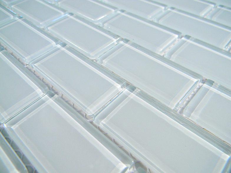 Crystal Glass Tile 1X2 Arctic Ice Polish Brick