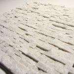 Carrara White 1/2 X 1 Small Split Face Stone Tile