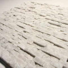 Carrara White 1/2 X 1 Small Split Face Stone Tile 1