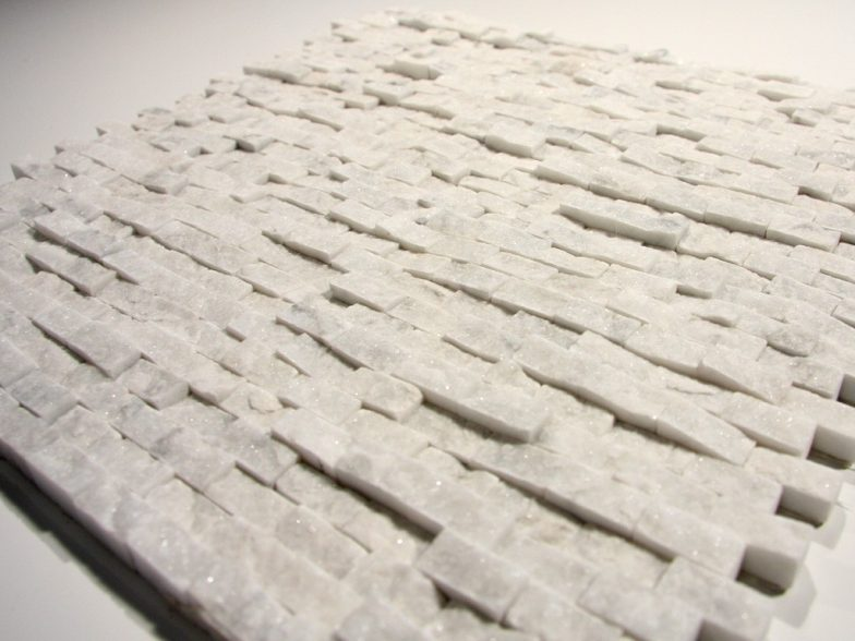 Carrara White 1/2 X 1 Small Split Face Stone Tile