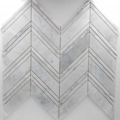 Large Chevron Pattern Carrara