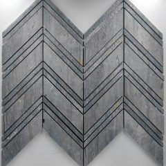 Large Chevron Pattern Blue Vein