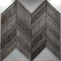 Large Chevron Pattern Gray Vein