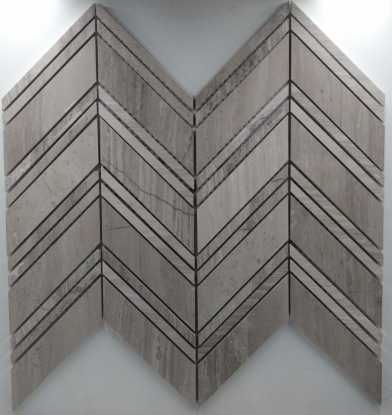 Large Chevron Pattern White Vein
