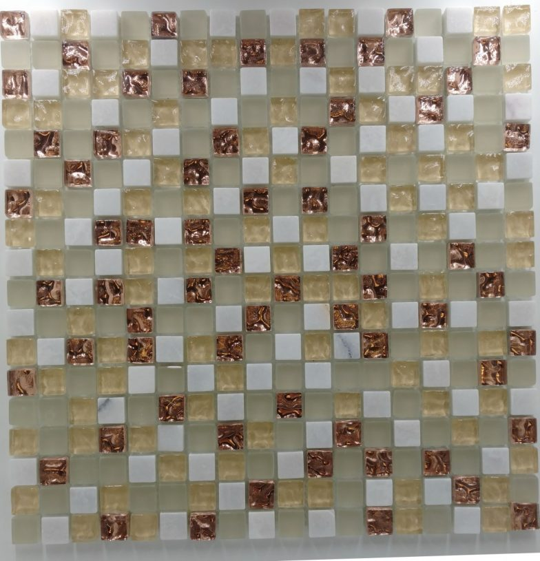 Mini Mosaic 5/8  White Gold