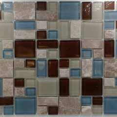 Puzzle Pattern Stone & Glass