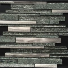 Polaris Glass and Aluminum and Copper Metal Linear Collection
