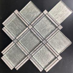 Diamond Frame Stone and Glass Tile Collection